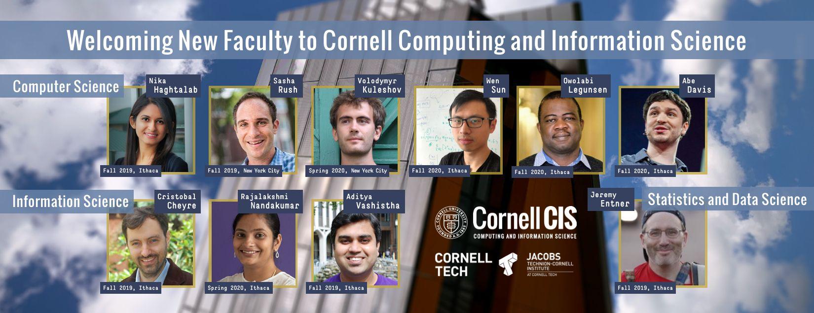 2019-20 New CIS Faculty