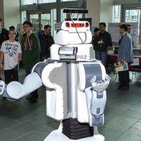 Robot Greets Presenters