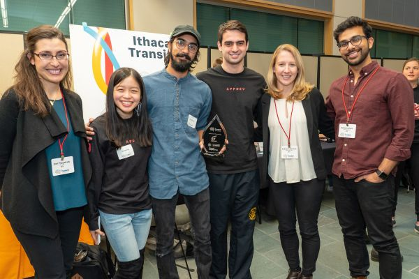 EY gives award to Ithaca Transit App