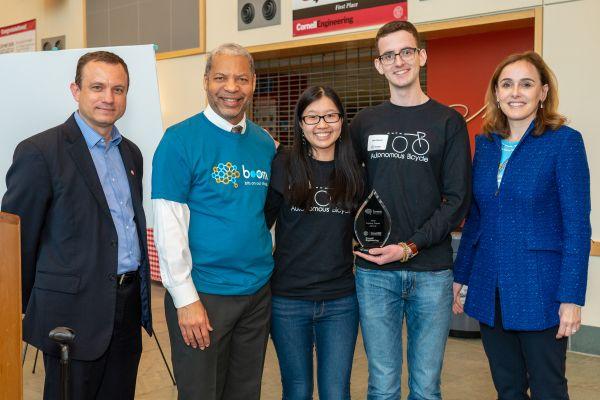 Autonomous bicycle team winning Legacy Team Award